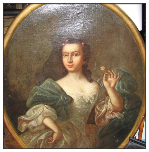 Portrait de jeune femme 18ème